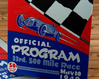 1946 Vintage Indianapolis 500 Racing Program - Canvas Gallery Wrap