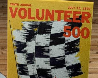 1970 Vintage Volunteer 500 Racing Program - Canvas Gallery Wrap   #MS028