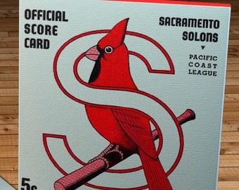 1939 Vintage Sacramento Solons Baseball Program Cover - Canvas Gallery Wrap