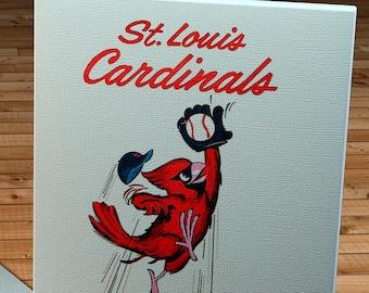 1963 Vintage St Louis Cardinals Scorecard - Canvas Gallery Wrap -    #BB477
