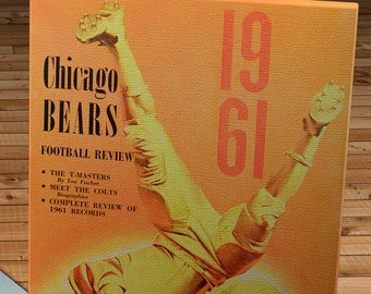 1961 Vintage Chicago Bears - Baltimore Colts Football Program Cover - Canvas Gallery Wrap