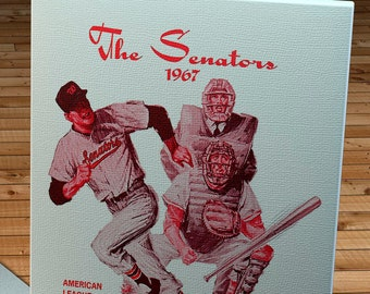 1967 Vintage Washington Senators Program - Canvas Gallery Wrap  #BB266