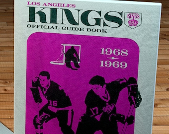 1968-1969 Vintage Los Angeles Kings Media Guide - Canvas Gallery Wrap -  10 x 16