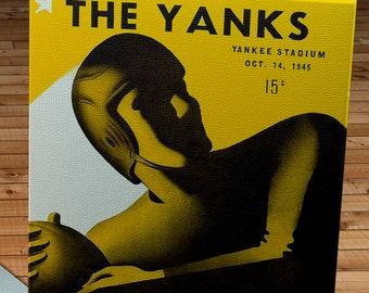 1945 Vintage Boston Yanks - New York Giants Football Program Cover - Canvas Gallery Wrap