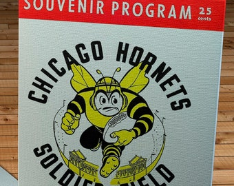 1949 Vintage Los Angeles Dons- Chicago Hornets - Football Program Cover - Canvas Gallery Wrap