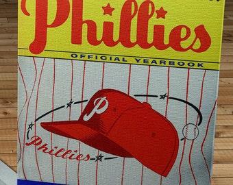 1958 Vintage Philadelphia Phillies Yearbook - Canvas Gallery Wrap   #BB435