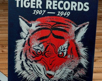 1949 Vintage Detroit Tigers Baseball Records Cover   - Canvas Gallery Wrap