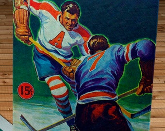 1941-1942 Vintage Brooklyn Americans Hockey Program Cover - Canvas Gallery Wrap