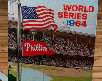 1964 Vintage Philadelphia Phillies - World Series (Phantom) Program Cover - Canvas Gallery Wrap