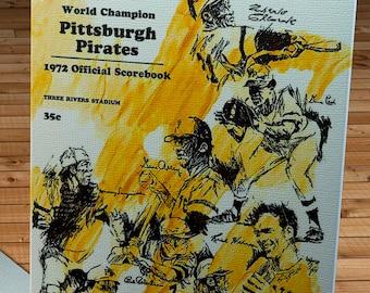 1972 Vintage Pittsburgh Pirates Scorebook - World Champions - Canvas Gallery Wrap  #BB461