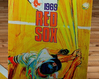 1969 Vintage Red Sox Scorecard- Canvas Gallery Wrap  #BB345