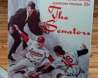 1968 Vintage Washington Senators Score Card - Canvas Gallery Wrap  #BB267