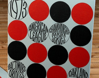 1973 Vintage Baltimore Orioles - Oakland A's - American League Championship Scorecard - Canvas Gallery Wrap