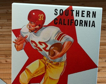 1958 Vintage USC Trojans  - Stanford Football Program - Canvas Gallery Wrap   #FB056