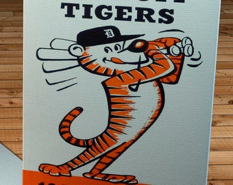 1960 Vintage Detroit Tigers Media Guide - Canvas Gallery Wrap -  10 x 20 #BB278