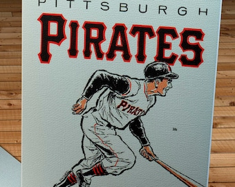 1963 Vintage Pittsburgh Pirates Yearbook - Canvas Gallery Wrap  #BB277