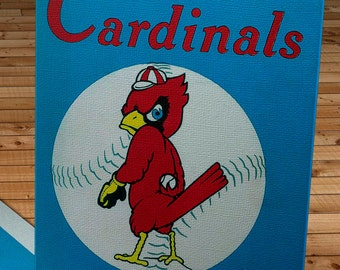 1955 Vintage St Louis Cardinals Yearbook - Canvas Gallery Wrap   #BB260