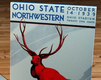 1939 Vintage Ohio State - Northwestern Football Program - Canvas Gallery Wrap   #FB089