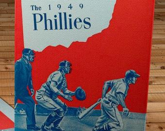 1949 Vintage Philadelphia Phillies Yearbook - Canvas Gallery Wrap   #BB401