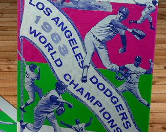 1964 Vintage Los Angeles Dodgers Yearbook - Canvas Gallery Wrap