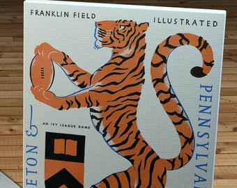 1956 Vintage Pennsylvania - Princeton Football Program - Canvas Gallery Wrap   #FB071