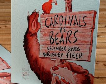 1956 Vintage Chicago Bears - Chicago Cardinals Football Program - Canvas Gallery Wrap   #FB056