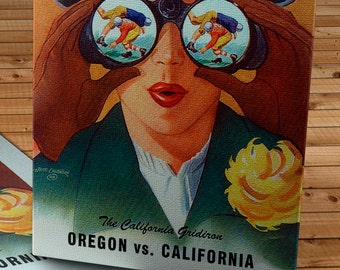 1951 Vintage Oregon - California Football Program - Canvas Gallery Wrap