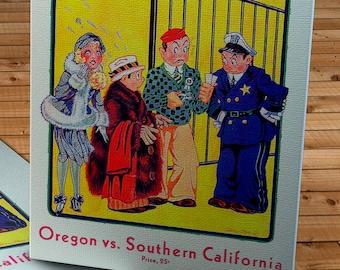 1931 Vintage Oregon - USC Football Program - Canvas Gallery Wrap