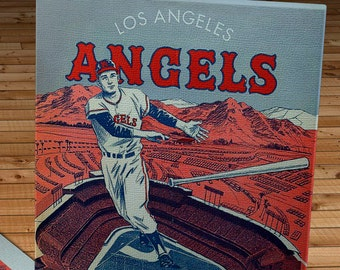1964 Vintage Los Angeles Angels Baseball Program - Canvas Gallery Wrap   #BB272