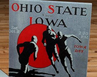 1924 Vintage Ohio State - Iowa Football Program - Canvas Gallery Wrap   #FB088