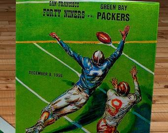 1956 Vintage San Francisco 49ers - Green Bay Packers Program - Canvas Gallery Wrap   #FB040