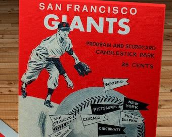 1969 Vintage San Francisco Giants Scorecard - Canvas Gallery Wrap