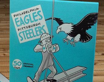 1963 Vintage Philadelphia Eagles - Pittsburgh Steelers Football Program - Canvas Gallery Wrap   #FB071