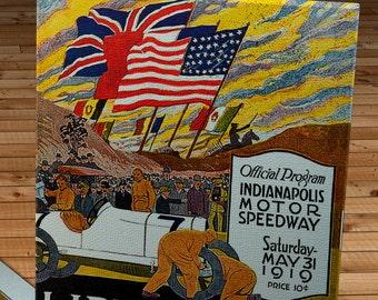 1919 Vintage Indianapolis 500 Racing Program - Canvas Gallery Wrap   #MS027