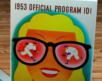 1953 Vintage Chicago Cubs Baseball Program - Canvas Gallery Wrap    #BB200