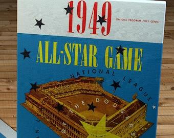 1949 Vintage Brooklyn Dodgers - Ebbets Field All-Star Game Program - Canvas Gallery Wrap  #BB472