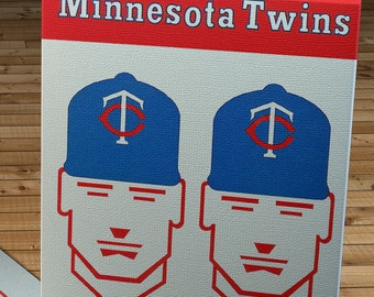 1964 Vintage Minnesota Twins Baseball Scorecard - Canvas Gallery Wrap  #BB567