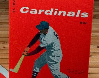 1959 Vintage St. Louis Cardinals Baseball Yearbook - Stan Musial - Canvas Gallery Wrap   #BB277