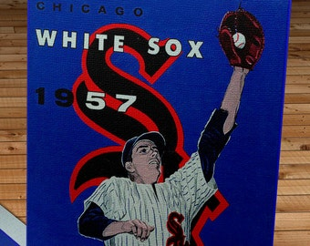 1957 Vintage Chicago White Sox Year Book - Canvas Gallery Wrap   #BB304