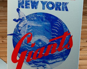 1950 Vintage New York Giants Baseball Scorecard - Canvas Gallery Wrap  #BB563