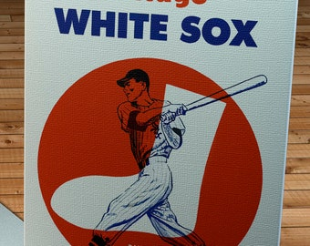 1961 Vintage Chicago White Sox Baseball Spring Training Program Cover - Canvas Gallery Wrap