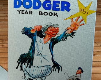 1955 Vintage Brooklyn Dodgers Yearbook Cover - Canvas Gallery Wrap