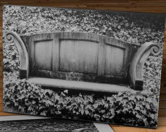 The old bench in the ivy - Oregon - Canvas Gallery Wrap - 12 x 20 #FA002
