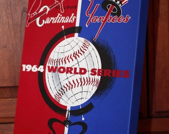 1964 Vintage St Louis Cardinals World Series Program - Canvas Gallery Wrap   #BB009