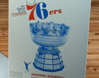 1967-1968 Vintage Philadelphia 76ers Basketball Program - Canvas Gallery Wrap