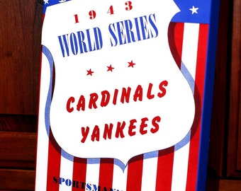 1943 Vintage St Louis Cardinals World Series Program - Canvas Gallery Wrap   #BB028