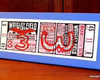1932 Vintage Chicago Cubs - New York Yankees World Series Ticket  - Canvas Gallery Wrap - 10 x 24 #BB058