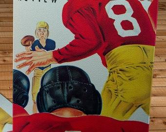 1948 Vintage Washington Huskies - Southern California Trojans Football Program Cover - Canvas Gallery Wrap