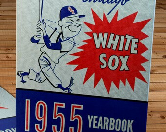 1955 Vintage Chicago White Sox Year Book - Canvas Gallery Wrap