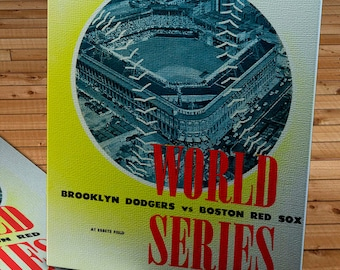 1946 Vintage Brooklyn Dodgers - Boston Red Sox World Series Program (Phantom)  - Canvas Gallery Wrap   #BB029
